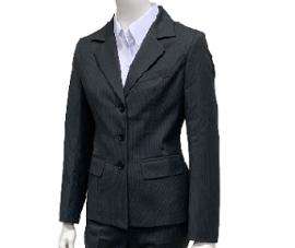 黑色白條紋套裝