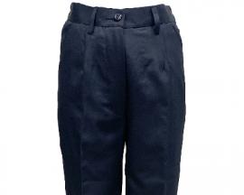 女版深藍色平面西裝褲