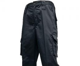 黑色多口袋工作褲