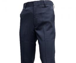 深藍色平面西裝褲