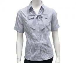 白底黑條襯衫(附活動領巾)