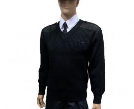 黑色軍警毛衣